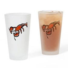 Cute Cartoon Lobster Pint Glass