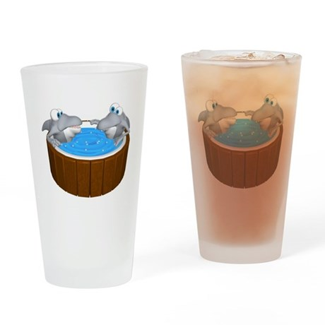 Sharks in a Hot Tub Pint Glass