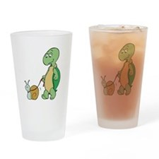 Turtle With Pet Snail Pint Glass