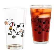 Funny Stubborn Cow Pint Glass