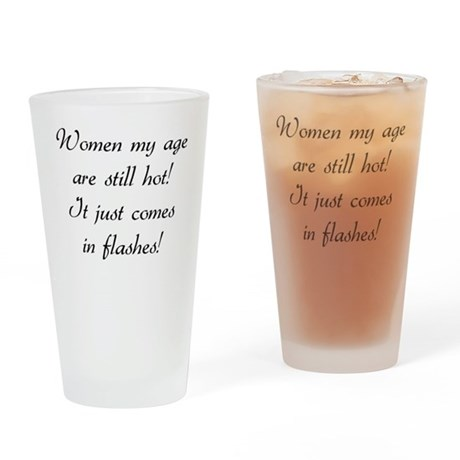 hot flashes Pint Glass