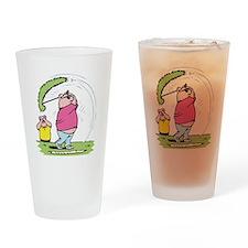 Funny Golfing Pig Pint Glass
