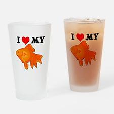 I Love my Goldfish Pint Glass