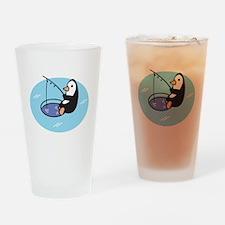 Cute Ice Fishing Penguin Pint Glass