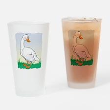 Cute Happy Goose Pint Glass