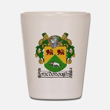 McDonough Coat of Arms Shot Glass