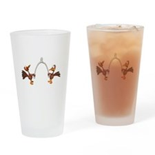Turkeys Making Wish (Wishbone Pint Glass