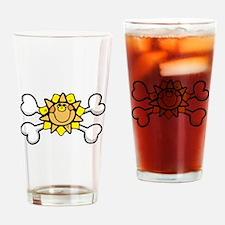 Happy Sun Crossbones Design Pint Glass