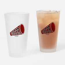 Red Cheer Megaphone Pint Glass