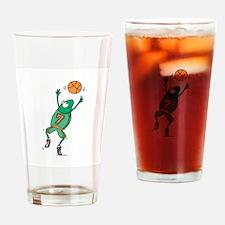 Cute Frog Basketball Player Pint Glass