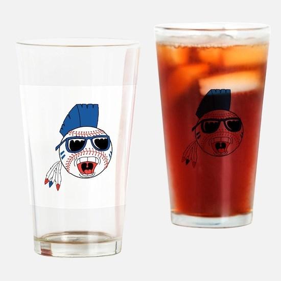 Punk Baseball Pint Glass