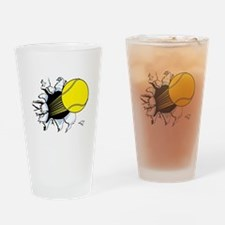 Tennis Ball Ripping Through Pint Glass