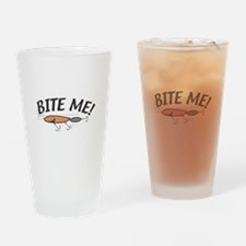 Funny Bite Me Fishing Lure Pint Glass