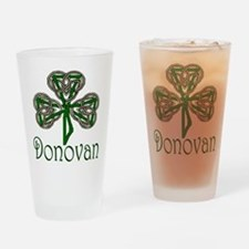 Donovan Shamrock Pint Glass