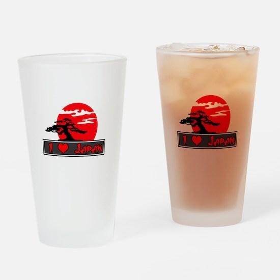 I Heart (Love) Japan Pint Glass