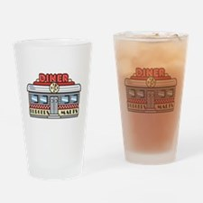 Retro Fast Food Diner Design Pint Glass