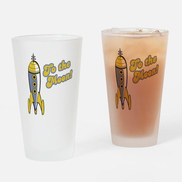 To the Moon Retro Rocket Pint Glass