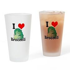 I Heart (Love) Broccoli Pint Glass