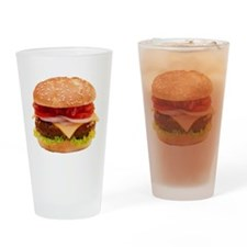 yummy cheeseburger photo Drinking Glass