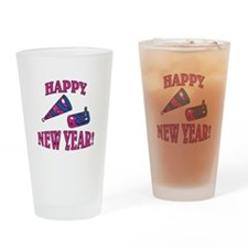 Happy New Year Noise Makers D Pint Glass