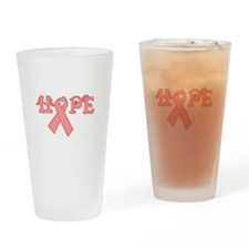 Hope for Breast Cancer Ribbon Pint Glass