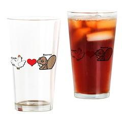 Cock Loves Beaver Pint Glass