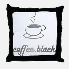 Coffee Black Throw Pillow