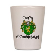 Duffy In Irish & English Shot Glass