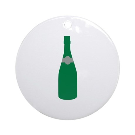 Champagne bottle Ornament (Round)