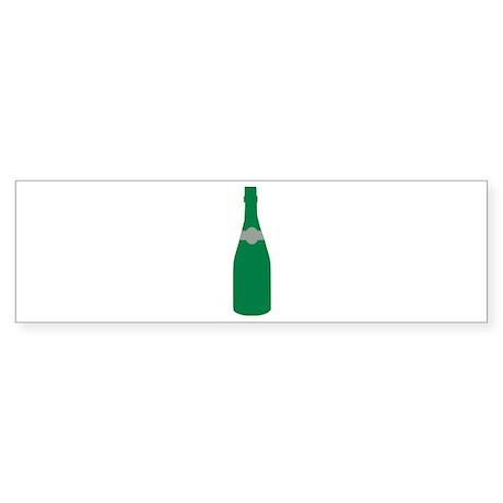 Champagne bottle Sticker (Bumper)