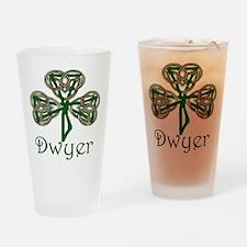Dwyer Shamrock Pint Glass