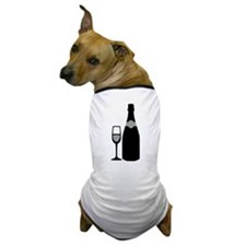 Champagne bottle glass Dog T-Shirt