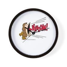 Vavoom! Yell Wall Clock