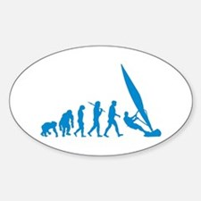 Evolution of Windsurfing Sticker (Oval)
