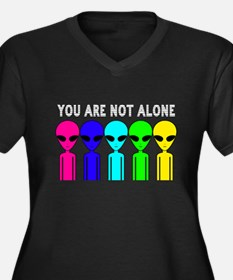 You Are Not Alone Women's Plus Size V-Neck Dark T-