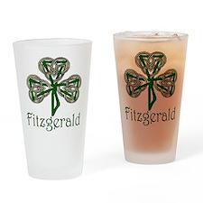 Fitzgerald Shamrock Pint Glass