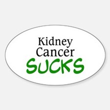 Kidney Cancer Sucks Oval Decal