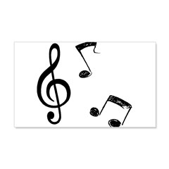 G-clef with Musical NOTES 22x14 Wall Peel
