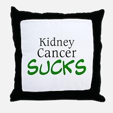 Kidney Cancer Sucks Throw Pillow