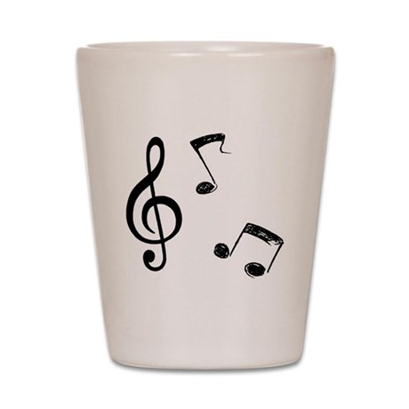 G-clef with Musical NOTES Shot Glass