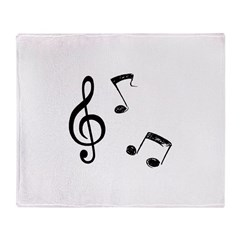 G-clef with Musical NOTES Throw Blanket