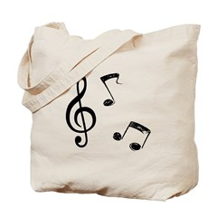 G-clef with Musical NOTES Tote Bag
