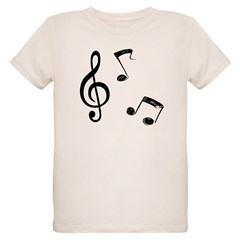 G-clef with Musical NOTES T-Shirt