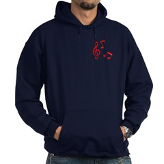 G-clef with Musical NOTES Hoodie