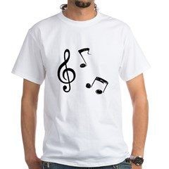 G-clef with Musical NOTES Shirt