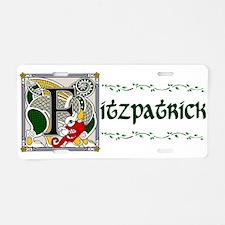 Fitzpatrick Celtic Dragon Aluminum License Plate