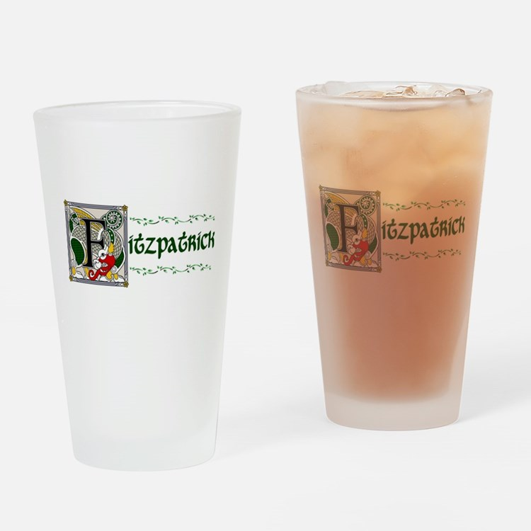 Fitzpatrick Celtic Dragon Pint Glass