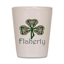 Flaherty Shamrock Shot Glass