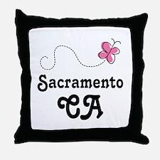 Pretty Sacramento California Throw Pillow