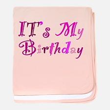 It's My Birthday baby blanket